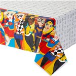DC Super Hero Girls Plastic Tablecover - 1.4m x 2.4m