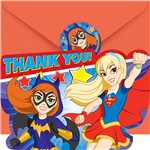 DC Super Hero Girls Thank You Cards