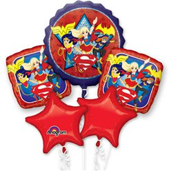 DC Super Hero Girls Balloon Bouquet - Assorted Foil