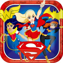 DC Super Hero Girls Plates - 23cm Paper Party Plates