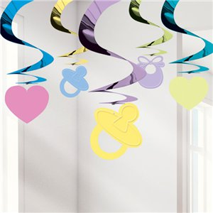 Baby Shower Hanging Swirl Decoration