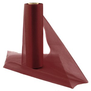 Burgundy Organza Sheer Roll - 25m
