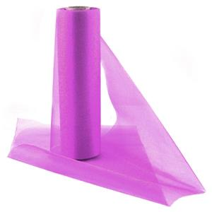 Fuschia Pink Organza Sheer Roll - 25m