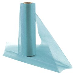 Mid Blue Organza Sheer Roll - 25m