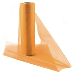Orange Organza Sheer Roll - 25m