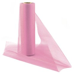 Pink Organza Sheer Roll - 25m