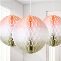 Ombre Honeycomb Decorations - 20cm