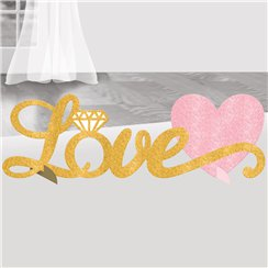 Love Glitter Table Decoration - 35cm