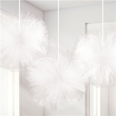 Fluffy White Tulle Decoration