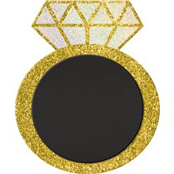 Glitter Chalkboard Easel Ring Sign - 30cm