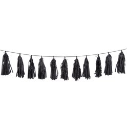 Black Tassel Garland Decoration - 2.7m
