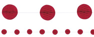 Red Honeycomb Garland Decoration - 2.1m