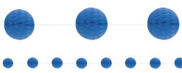 Royal Blue Honeycomb Garland Decoration - 2.1m
