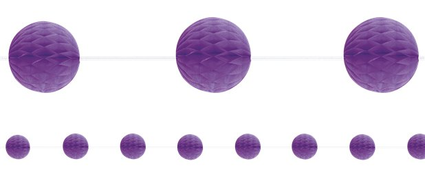 Purple Honeycomb Garland Decoration - 2.1m