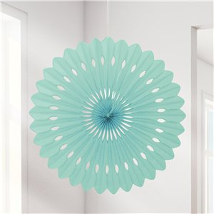 Mint Green Paper Fan Decoration - 41cm