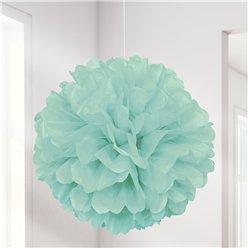Mint Green Pom Pom Decoration - 41cm