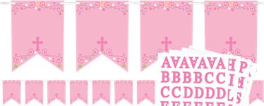 Pink Cross Personalised Bunting - 2.4m