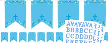 Blue Cross Personalised Bunting - 2.4m