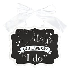 Countdown To I Do Chalkboard MDF Sign