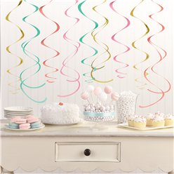 Pastel Hanging Swirl Decorations