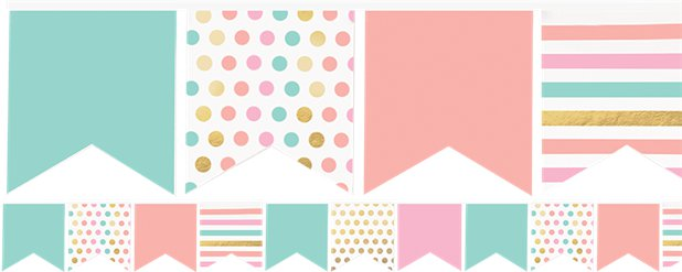 Pastel Multi Coloured Mini Bunting - 3.6m Paper Bunting