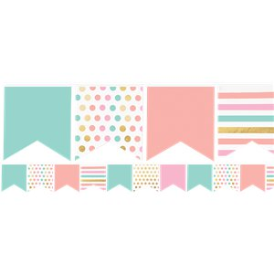 Pastel Multi Coloured Mini Paper Bunting - 3.6m