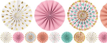 Pastel Mini Fan Paper Garland