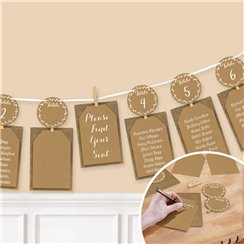 Rustic Seating Chart Garland