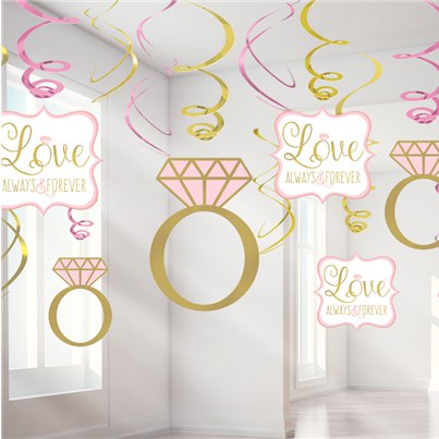 Sparkling Wedding Swirls Decorations