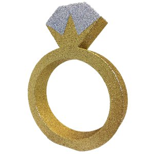 Glitter Engagement Ring Table Decoration