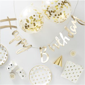 Party In a Box - Gold Polka Dots