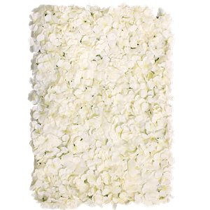 Cream Hydrangea Flower Wall Kit - 8 panels