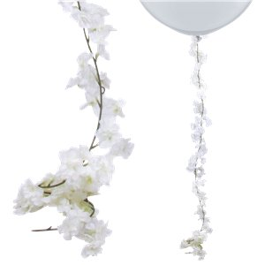 White Blossom Floral Garland - 2.1m