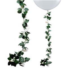 Cream Rose Floral Garland - 1.8m