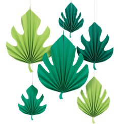 Palm Leaf Paper Fan Decorations - 40cm