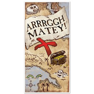 Pirate Treasure Map Door Cover - 1.5m x 76cm