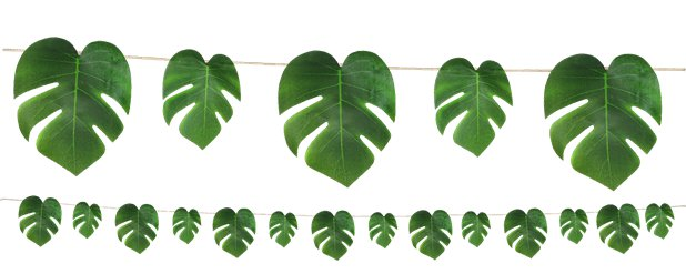 Tropical Palm Leaf Garland - 2.74m