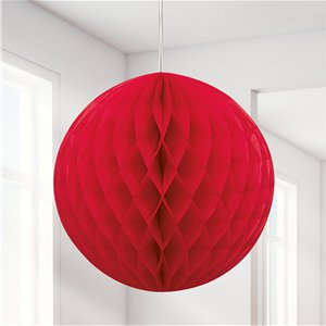 Red Honeycomb Ball Decoration - 20cm