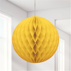 Yellow Honeycomb Ball Decoration - 20cm