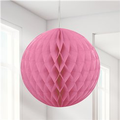 Hot Pink Honeycomb Ball Decoration - 20cm