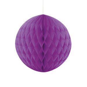 Purple Honeycomb Ball Decoration - 20cm