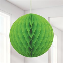 Lime Green Honeycomb Ball Decoration - 20cm