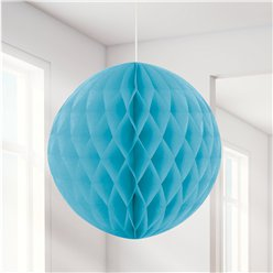 Baby Blue Honeycomb Ball Decoration - 20cm