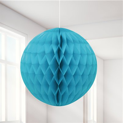 Turquoise Honeycomb Ball Decoration - 20cm