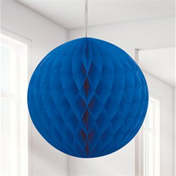 Royal Blue Honeycomb Ball Decoration - 20cm