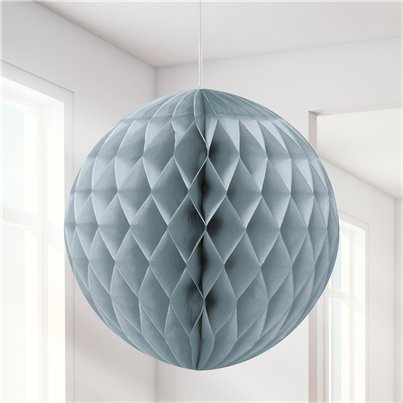 Silver Honeycomb Ball Decoration - 20cm