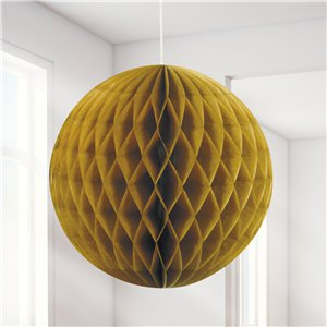 Gold Honeycomb Ball Decoration - 20cm