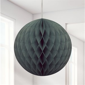 Black Honeycomb Ball Decoration - 20cm
