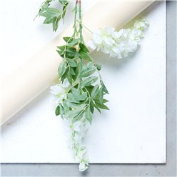 White 2 Head Wisteria Decoration - 90cm