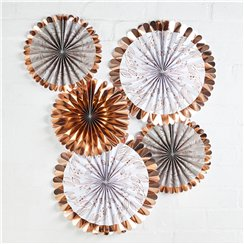 Rose Gold Paper Fan Decorations